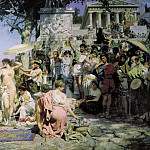 Phryne on the festival of Poseidon in Elevzine. 1889. Canvas, Henryk Semiradsky