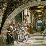 Raffaello Sanzio da Urbino) Raphael (Raffaello Santi - Stanza of Heliodorus: The Expulsion of Heliodorus from the Temple