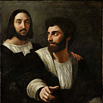 Raffaello Sanzio da Urbino) Raphael (Raffaello Santi - Self-portrait with a Friend