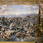 Raffaello Sanzio da Urbino) Raphael (Raffaello Santi - Room of Constantine: The Battle of the Milvian Bridge (Giulio Romano)