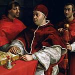 Uffizi - Pope Leo X with Cardinals Giulio de Medici and Luigi de Rossi