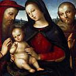 Maria with the blessing Child with Saints Jerome and Francis, Raffaello Sanzio da Urbino) Raphael (Raffaello Santi