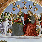 Raffaello Sanzio da Urbino) Raphael (Raffaello Santi - Oddi altarpiece - Coronation of the Virgin ( fragment)