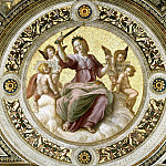Antique world maps HQ - Stanza della Segnatura: Ceiling - Justice