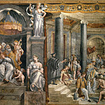 Room of Constantine: The Baptism of Constantine (Gianfrancesco Penni), Francesco Vanni