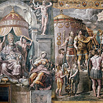 Raffaello Sanzio da Urbino) Raphael (Raffaello Santi - Room of Constantine: The Vision of the Cross (circle of Raphael)