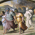 Flight of Lot´s family from Sodom, Raffaello Sanzio da Urbino) Raphael (Raffaello Santi