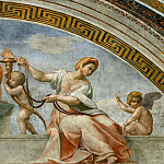 Michelangelo Buonarroti - Stanza della Segnatura: Cardinal and Theological Virtues (fragment)