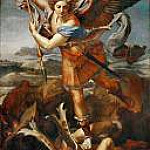 Raffaello Sanzio da Urbino) Raphael (Raffaello Santi - Saint Michael and the Devil