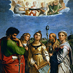 Saint Cecilia with Saints Paul, John the Evangelist, Augustine, and Mary Magdalene, Raffaello Sanzio da Urbino) Raphael (Raffaello Santi