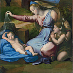 Madonna with the Blue Diadem (Giovanni Francesco Penni), Francesco Vanni