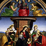 Raffaello Sanzio da Urbino) Raphael (Raffaello Santi - Madonna and Child Enthroned with Saints