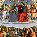 Titian (Tiziano Vecellio) - Oddi altarpiece - Coronation of the Virgin