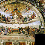 Michelangelo Buonarroti - Stanza della Segnatura: Disputation of the Holy Sacrament