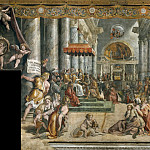 Room of Constantine: The Donation of Constantine (workshop of Raphael), Francesco Vanni