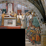 Alessandro Botticelli - Stanza Fire in the Borgo: The Oath of Leo III