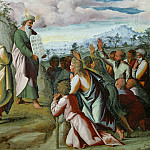 Michelangelo Buonarroti - Moses Presents the Tablets of the Law to the people