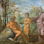 Raffaello Sanzio da Urbino) Raphael (Raffaello Santi - God Presents Eve to Adam