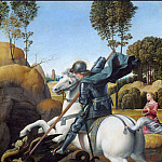 Raffaello Sanzio da Urbino) Raphael (Raffaello Santi - St. George and the Dragon