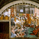 Michelangelo Buonarroti - Stanza Fire in the Borgo: The Coronation of Charlemagne