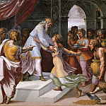 Raffaello Sanzio da Urbino) Raphael (Raffaello Santi - Solomon and the Queen of Sheba