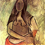 Pablo Picasso (1881-1973) Period of creation: 1908-1918 - 1909 Femme assise (Femme au chГle)