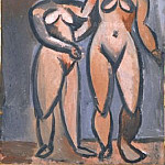 Pablo Picasso (1881-1973) Period of creation: 1908-1918 - 1908 Deux femmes