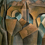 1909 Paysage avec un pont2, Pablo Picasso (1881-1973) Period of creation: 1908-1918