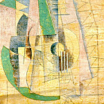 1912 Guitare verte qui Вtend, Pablo Picasso (1881-1973) Period of creation: 1908-1918