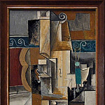 1913 Violon et verres sur une table, Pablo Picasso (1881-1973) Period of creation: 1908-1918