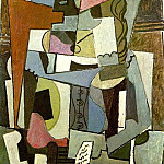 Pablo Picasso (1881-1973) Period of creation: 1908-1918 - 1914 Femme assise avec livre