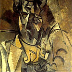 Pablo Picasso (1881-1973) Period of creation: 1908-1918 - 1909 Homme au chapeau [Portrait de Braque]