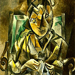 1909 Femme qui coud, Pablo Picasso (1881-1973) Period of creation: 1908-1918