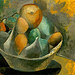 Pablo Picasso (1881-1973) Period of creation: 1908-1918 - 1908 Compotier et fruits