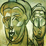 1909 Deux tИtes de femme , Pablo Picasso (1881-1973) Period of creation: 1908-1918