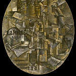 1912 La table de larchitecte, Pablo Picasso (1881-1973) Period of creation: 1908-1918
