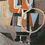 Pablo Picasso (1881-1973) Period of creation: 1908-1918 - 1918 Fillette au cerceau