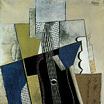 Pablo Picasso (1881-1973) Period of creation: 1908-1918 - 1915 Guitare et journal