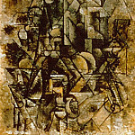 1911 Homme Е la mandoline2, Pablo Picasso (1881-1973) Period of creation: 1908-1918