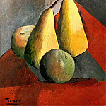 Pablo Picasso (1881-1973) Period of creation: 1908-1918 - 1908 Poires et pommes