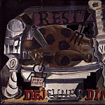 Pablo Picasso (1881-1973) Period of creation: 1908-1918 - 1912 Le restaurant dinde avec truffes et vin