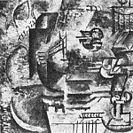 Pablo Picasso (1881-1973) Period of creation: 1908-1918 - 1911 Mandoline et verre de Pernod