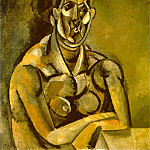 Pablo Picasso (1881-1973) Period of creation: 1908-1918 - 1909 Buste de femme (Fernande)