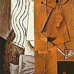 1913 TИte dhomme1, Pablo Picasso (1881-1973) Period of creation: 1908-1918