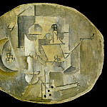 Pablo Picasso (1881-1973) Period of creation: 1908-1918 - 1912 Grenade, verre, pipe