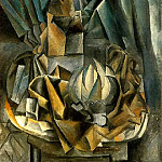 Pablo Picasso (1881-1973) Period of creation: 1908-1918 - 1909 Рventail, boМte de sel et melon