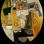 Pablo Picasso (1881-1973) Period of creation: 1908-1918 - 1913 Instruments de musique