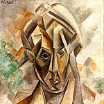 1909 TИte de femme, Pablo Picasso (1881-1973) Period of creation: 1908-1918