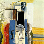 1913 Violon accrochВ au mur, Pablo Picasso (1881-1973) Period of creation: 1908-1918