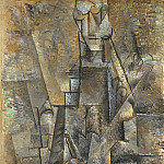 1911 Homme Е la clarinette, Pablo Picasso (1881-1973) Period of creation: 1908-1918